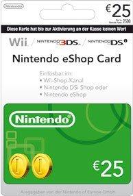 Carte Cadeau Nintendo Eshop.Nintendo Eshop Card 25 Carte De Jeu Console Compatible Compatible Multi Plateformes