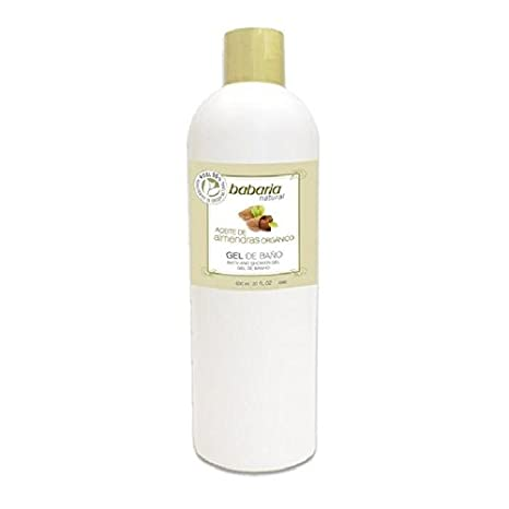 Babaria natural gel aceite de almendras organico 600ml: Amazon.es: Belleza