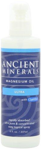 Nouveaux minéraux antiques huile pure Ultra magnésium pulvériser avec OPT MSM - 8 oz Bouteille