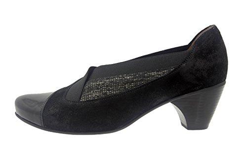 casual Piesanto de confort Calzado ancho cómodo Carbon 7409 mujer piel abotinado zapato qI8BEw64Z