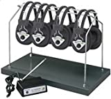 HMLHHW904MULTI - Hamilton Buhl Wireless Listening Center, 4 Station with Headphones and Transmitter, Multi Frequency with Rack