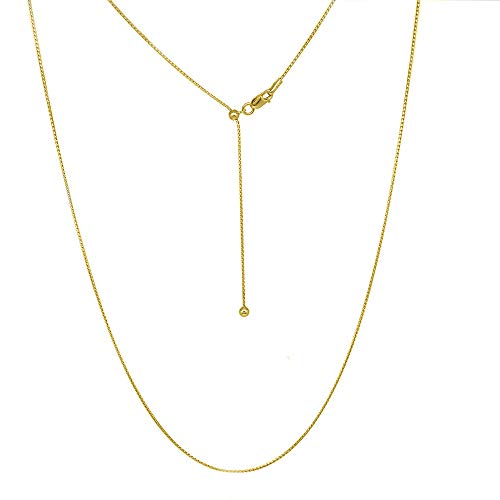 Verona Jewelers Sterling Silver Adjustable Necklace, 1MM Fancy Italian Round Serpentine Chain Necklace 24