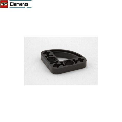 Lego Parts: Technic, Liftarm 3 x 3 L-Shape with Quarter Ellipse Thin (Black)