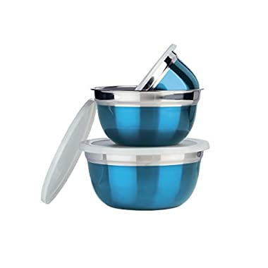 Parag- Stainless Steel Metallic Lid Bowl (Storage & Serving)