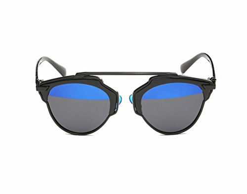 GAMT New Fashion Cateye Polarized Sunglasses For Women Classic Style (black frame blue-black (My Candy Love 16)