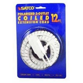 Coiled Extension Cord (Satco 93-170 - 93170)