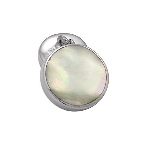 Sayers London Sterling Silver Mother of Pearl Double-Sided Cufflinks