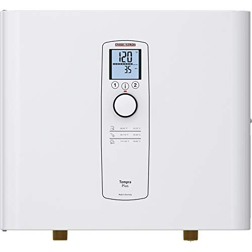 Stiebel Eltron Tankless Water Heater - Tempra 24 Plus - Electric, On Demand Hot Water, Eco, White