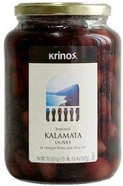 Kalamata Olives (krinos) 2lb JAR, Dr.Wt. 1lb4oz-2lb jar