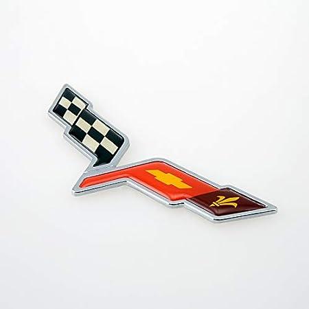 Bearfire 2pcs Corvette Stingray Mako Shark Fender Emblem Badge 3D Decal for Corvette Chrome Stingray emblem Chrome