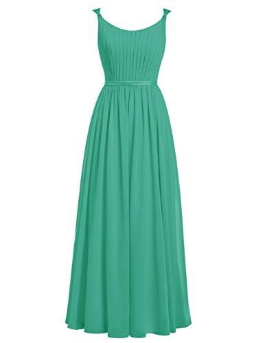 Dresstells®Vestido De Fiesta Largo Con Tirantes Finos Vestido de Madrina Verde