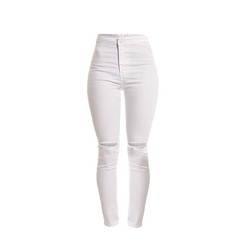 Ladies' Stretch Ankle Skinny Jeans for Women Slim Solid Hole Long - Red Jumpsuit Apparatus The Hoodie