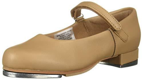 (Leo baby-girls' Rhythm Tap Dance Shoe, Tan, 8 Medium US Toddler)