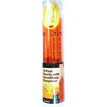 Home Depot Marking Pencil with VersaSharp Sharpener, 10 Pack - 100% Wood FSC C006583 - Made in USA
