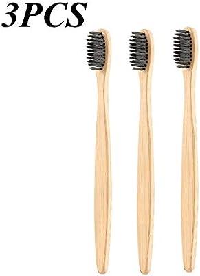 1 cepillo de dientes de bambú con carbón negro suave y ...