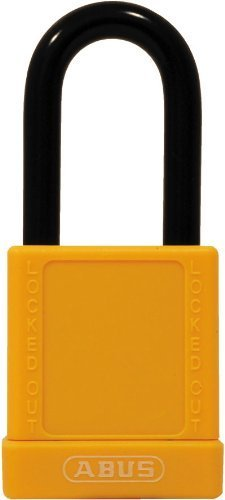 ABUS 74/40 KD Safety Lockout Non-Conductive Keyed Different Padlock with 1-1/2-Inch Shackle, Yellow by ABUS