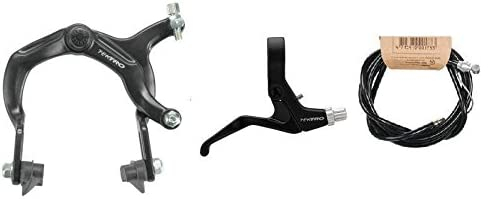 Aluminum Side Pull Bicycle Rear Caliper Brake Sets Bike Lever Cable Kit Black
