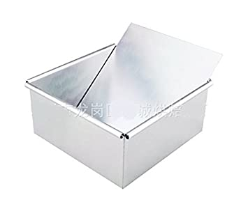 Astra shop Anodized Aluminum Square Cheesecake Pan with Removable Bottom 10 x 10 x 3 inch