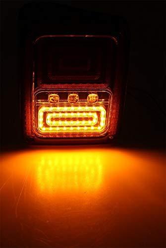 Pack of 2Pcs MORMOR M2011 2007-2015 Jeep Wrangler JK JKU Tail Lights Brake Lights LED Smoke Lens with Turn Signal Lights More Direct