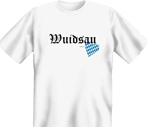 T-Shirt mit bayerischem Spruch: - Wuidsau - deftige, witzige Schimpfwörter für´s Oktoberfest !