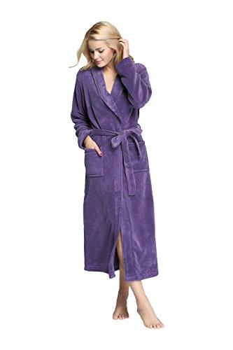 TONY CANDICE Womens Fleece Bathrobe