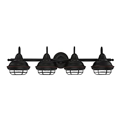 Designers Impressions Charleston Oil Rubbed Bronze 4 Light Wall Sconce/Bathroom Fixture: 10013