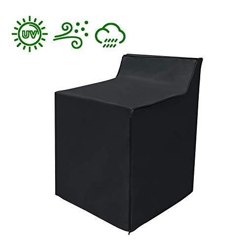 Washing Machine Cover, Heavy Duty Waterproof Washing Machine Protecter Top Load or Fron t Load Fit for Outdoor Washers and Dryers, 29x28x40 inch Black