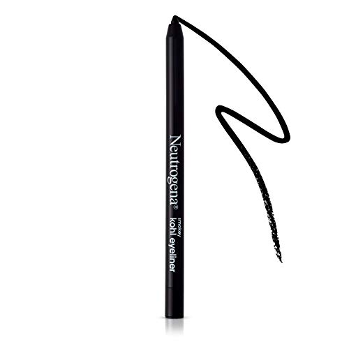 Neutrogena Smokey Kohl Eyeliner with Antioxidant Vitamin E, Water-Resistant & Smooth-Gliding Eyeliner Makeup, Jet Black, 0.014 oz