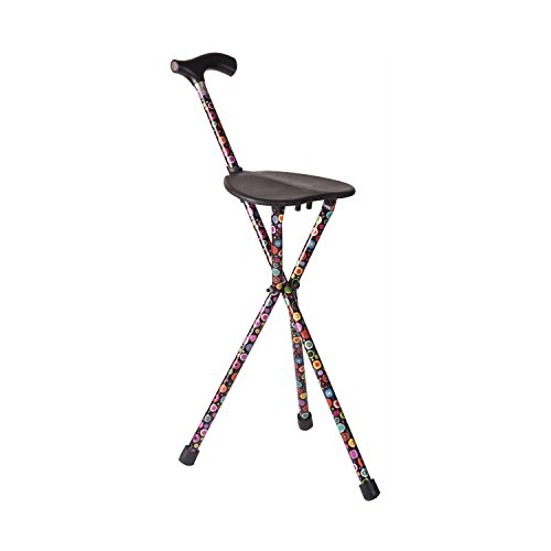 Walking Stick Seat - Switch Sticks Walking Stick With Seat, 2-in-1 Folding Walking Stick Seat, Bubbles