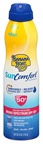 Banana Boat Continuous Spf 50 Spray 6 Ounce Sun Comfort 177ml 3 Pack
