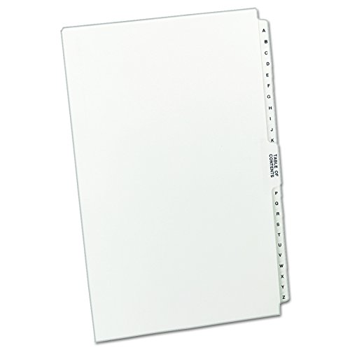 Avery  Premium Collated Legal Dividers, Legal Size, A-Z and Table of Contents, 1 Set (Avery Premium Collated Legal Dividers)