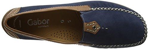 Gabor Shoes Comfort, Mocasines para Mujer Azul (navy/copper 46)