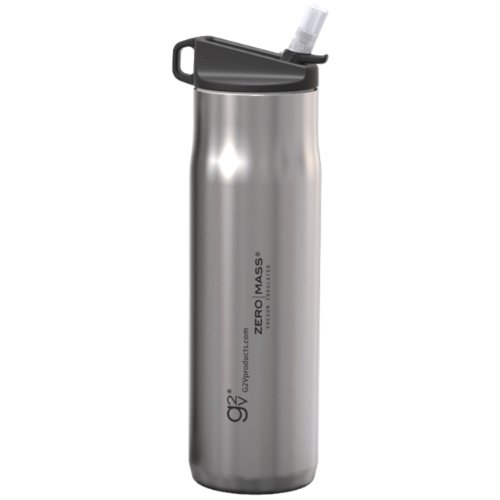 G2V 17.5-Ounce ZERO MASS Stainless Steel Water Bottle with Flick Sports Lid with Straw by G2V