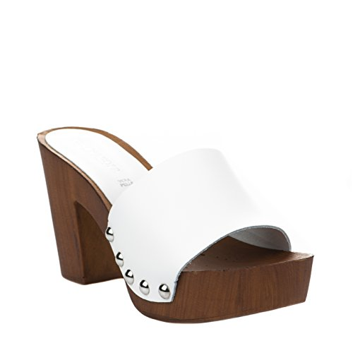 Blanc CAFe NOIR Femme Blanc Mules TntSv