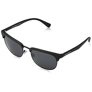 Emporio Armani Mens Sunglasses (EA4072) Black Matte/Grey Plastic - Non-Polarized - 52mm