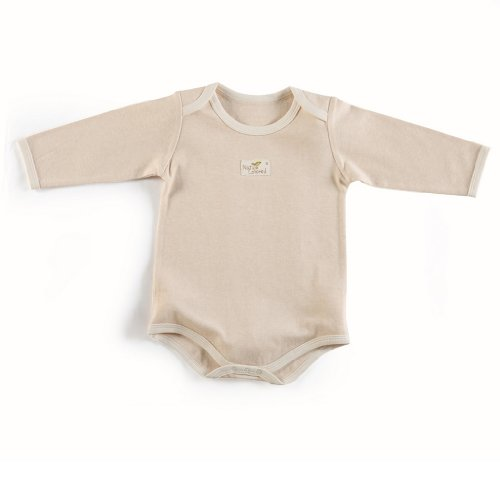 Naturecolored Baby Bodysuit with Naturally Colored Cotton. Light Brown. 6 -