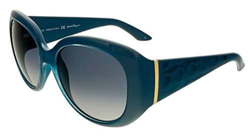 Salvatore Ferragamo Women's SF721S-416-55 Sunglasses, Petrol ()