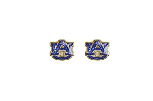 NCAA Auburn Tigers Glitter Post EarringsGlitter Post Earrings, Team Color, 2.5