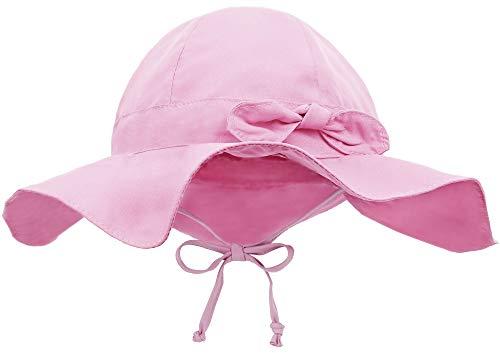Siero Baby Sun Hats with UPF 50+ Adjustable Kids Beach Hat, Pink 12-24 Months
