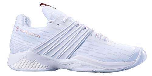 (Babolat Men's Propulse Fury All Court Tennis Shoes, Wimbledon White/White (12.5 US))