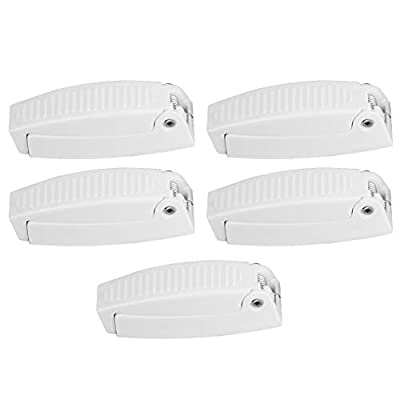 Qii lu 5Pcs Door Catch Holder Latch Universel for RV Motorhome Camper Traile Travel Baggage (White): Automotive