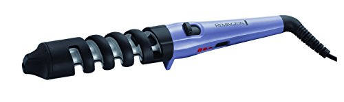 Remington CI63E1 Dual Curl Tong Curling Wand with Storage Pouch, 120-240V