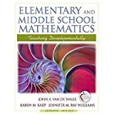 Elementary and Middle School Mathematics : Teaching Developmentally with Field Experience Guide, De Walle, Van and Van de Walle, John A., 0132464667