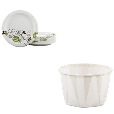 KITDXEUX9PATHPBBXSLO200 - Value Kit - Dixie Pathways Mediumweight Paper Plates (DXEUX9PATHPBBX) and Solo Paper Portion Cups (SLO200)
