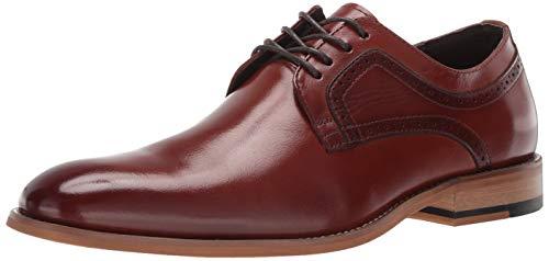 (STACY ADAMS Men's Dickens Plain Toe Lace-Up Oxford, Cognac, 13 W)