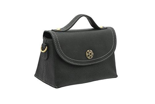 Bag Black Small Grab Shoulder Leather 88 Tan Tudor Collection Mala 792 qY6Cwax