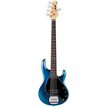 Sterling by Music Man S.U.B. Series Ray5 StingRay Bass, 5-String, Trans Blue Satin