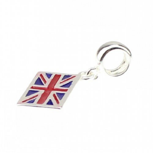 (Beads Hunter 925 Sterling Silver Union Jack Dangle For European)