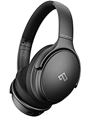 Infurture Active Noise Cancelling Headphones with Microphone, Wireless Over Ear Bluetooth Headphones, 3D Deep Bass, Memory Foam Ear Cups,40H Playtime for Kids, TV, Travel, Online Class, Home Office