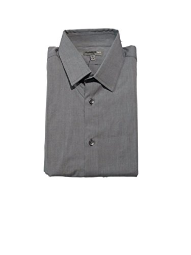 Express Men's Fitted Buttondown Shirt (M, Grey)